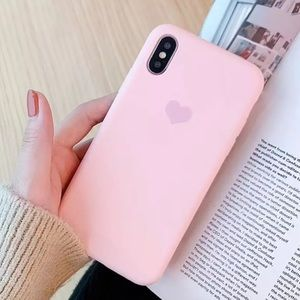 Accessories - NEW! Iphone Pink with 💜 case . Silicone based
